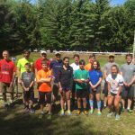 Junior shooting clinic held at Saratoga Biathlon Club.